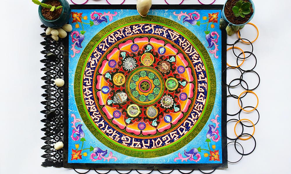 How is Mandala Art different from Zentangle Art